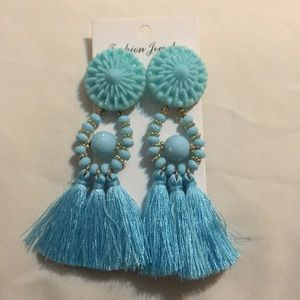 Bohemian Round Tassel Earrings Fashion Women